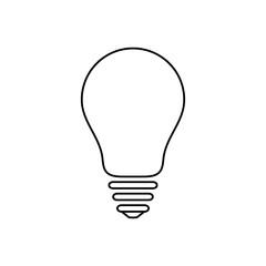 Light bulb icon, idea and creativity symbol, modern thin line art