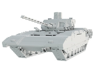 3d printed tank isolated on white background