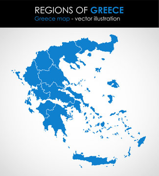 Greece - highly detailed map.All elements are separated in editable layers. Vector illustration.