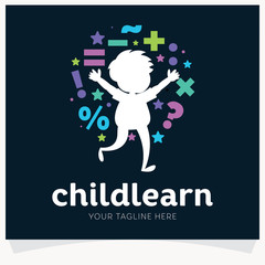 Kids Learning School Logo Design Template Inspiration