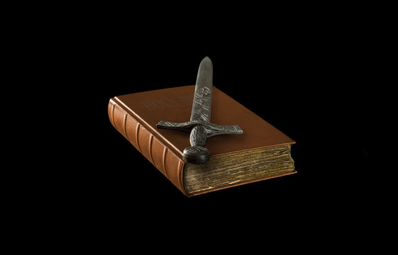Sword on ancient book