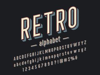 3D retro alphabet design