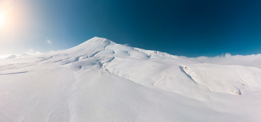 Snowy mountain view from Erciyes Turkey