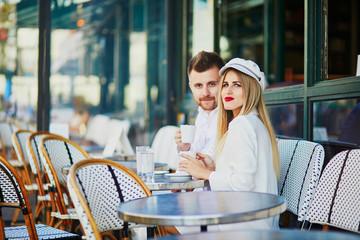 Romantic couple having a date in Paris