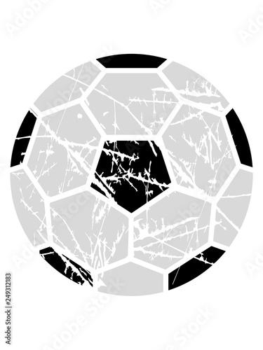 Fußball Risse Kratzer Muster Sport Handball Rund Kreis Verein Spaß