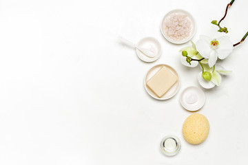 Spa natural cosmetic products background
