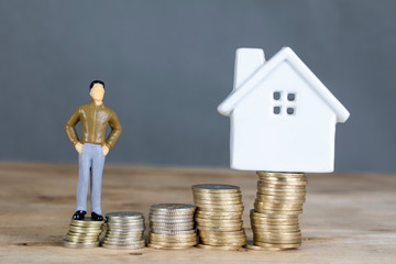 House , Money , Man and Saving
