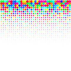 The bright colorful  confetti on a white background.
