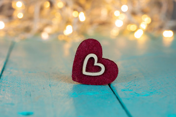 Love Concept , Bokeh Valentines Heart for Love