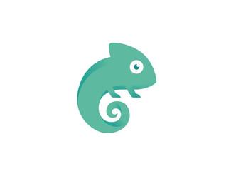 Creative Small Chameleon Logo Wall mural