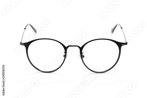64e1a2dd6b5e Image of modern fashionable spectacles isolated on white background ...