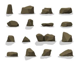 set of rock stones.