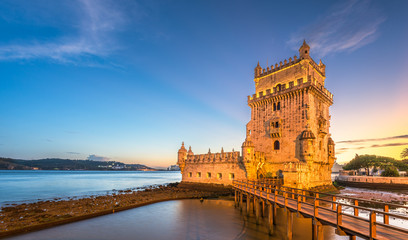 Belem Tower on the Tagus River in Lisbon Wall mural