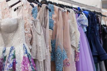 Divine shiny evening dresses.