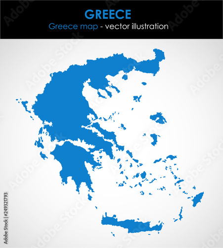 Greece graphic map of the country. Vector illustration.\