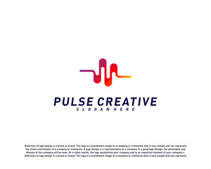 Medical Pulse or Wave logo design concept.Health Pulse logo template vector. Icon Symbol