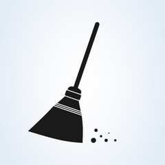 Sweeping broom vector broom. isolated white background