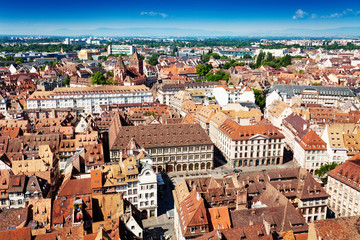 Downtown of Strasbourg, little France district