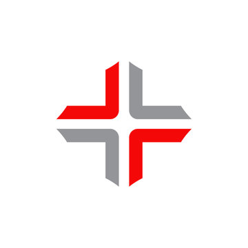 Medical logo design vector template with cross icon