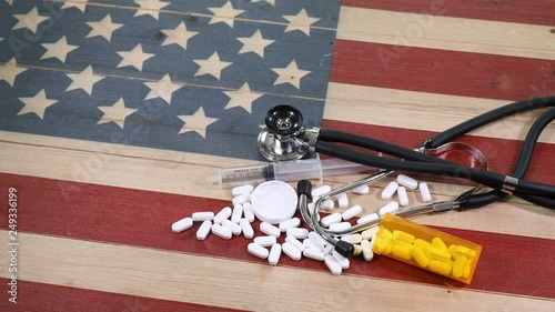 Epidemic drug concept consisting of prescription pain killers with