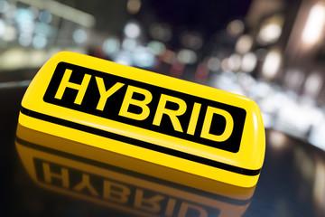 3D Illustration Hybrid car