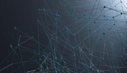 3D Illustration Netzwerk Verbindung