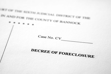 Legal Pleadings Court Papers Law Decree of Foreclosure
