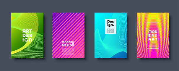 Abstract modern background. Geometric shapes and lines. Colorful neon gradient. Eps10 vector.