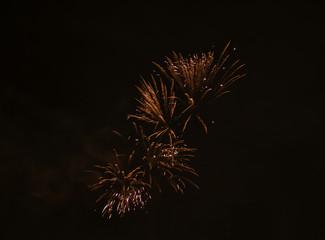 Raketen am Himmel in der Silvesternacht in München