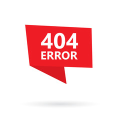 404 error, page not found on a sticker- vector illustration