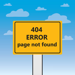 404 error page not found written on a billboard- vector illustration