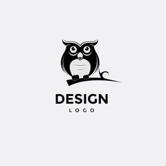 Vector logo design, owl icon