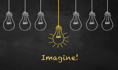 Chalkboard Light Bulb - Imagine