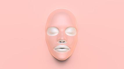 Pink Sheet mask 3D Render
