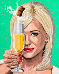 Beautiful Champagne Girl