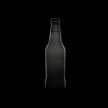 Silhouette of a beer bottle