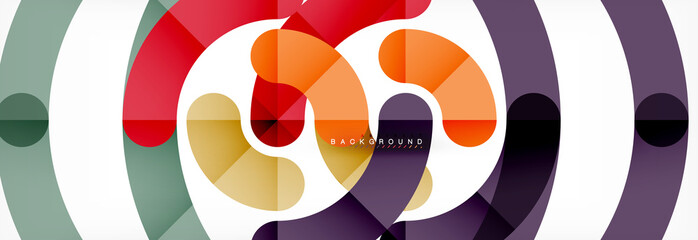 Line design circles abstract background
