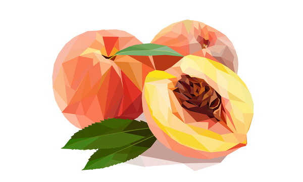 Peach Low Poly Style