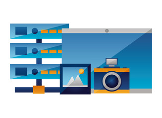 tablet camera photo database server