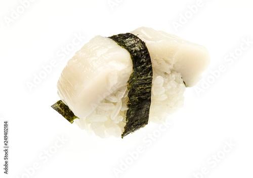 Japanese Traditional Food Nigiri Sushi Isolated On A White