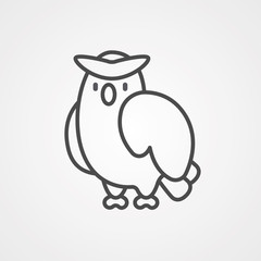 Owl vector icon sign symbol