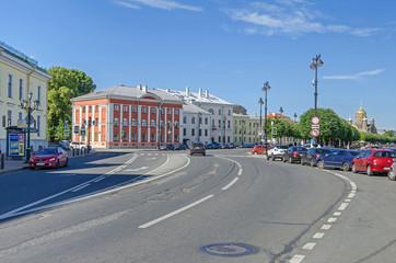 Lieutenant Schmidt embankment  on the Vasilievsky Island in Saint Petersburg, Russia Wall mural