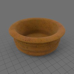 Empty terracotta pot 1