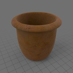 Empty terracotta pot 3
