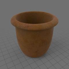 Empty terracotta pot 3