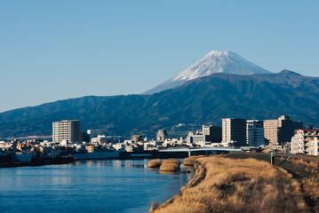 狩野川と富士山 Wall mural