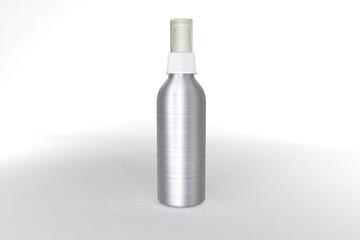 Mockup botella de aluminio