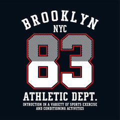 graphic design brooklyn for shirt and print - Vector
