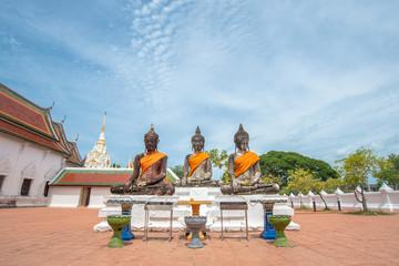 Buddha Statue at Wat Phra Borommathat Chaiya , Surat Thani , Thailand.