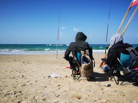 Fishermen fishing fish